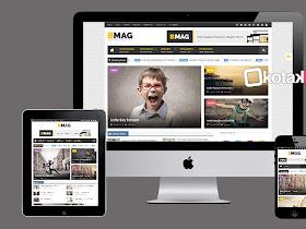 BMAG Magazine Responsive Blogger Template - Responsive Blogger Template