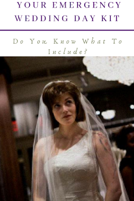 K'Mich Weddings - wedding planning - bride in white with veil with a confused look - emergency wedding-day-kit