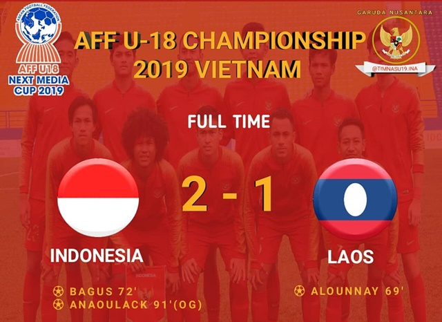 Timnas Indonesia Berhasil Lolos ke Semifinal Piala AFF U-18 2019 - IGtimnasu19.ina