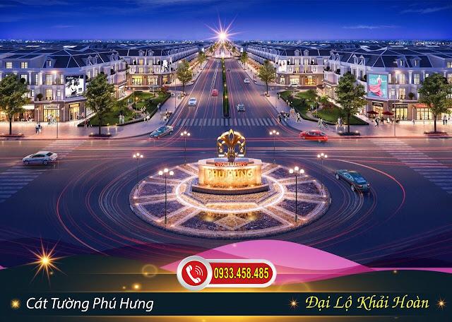 Bán đất sổ đỏ TP Đồng Xoài, Bình Phước: Đại Lộ Khải Hoàn tại dự án đất nền Cát Tường Phú Hưng