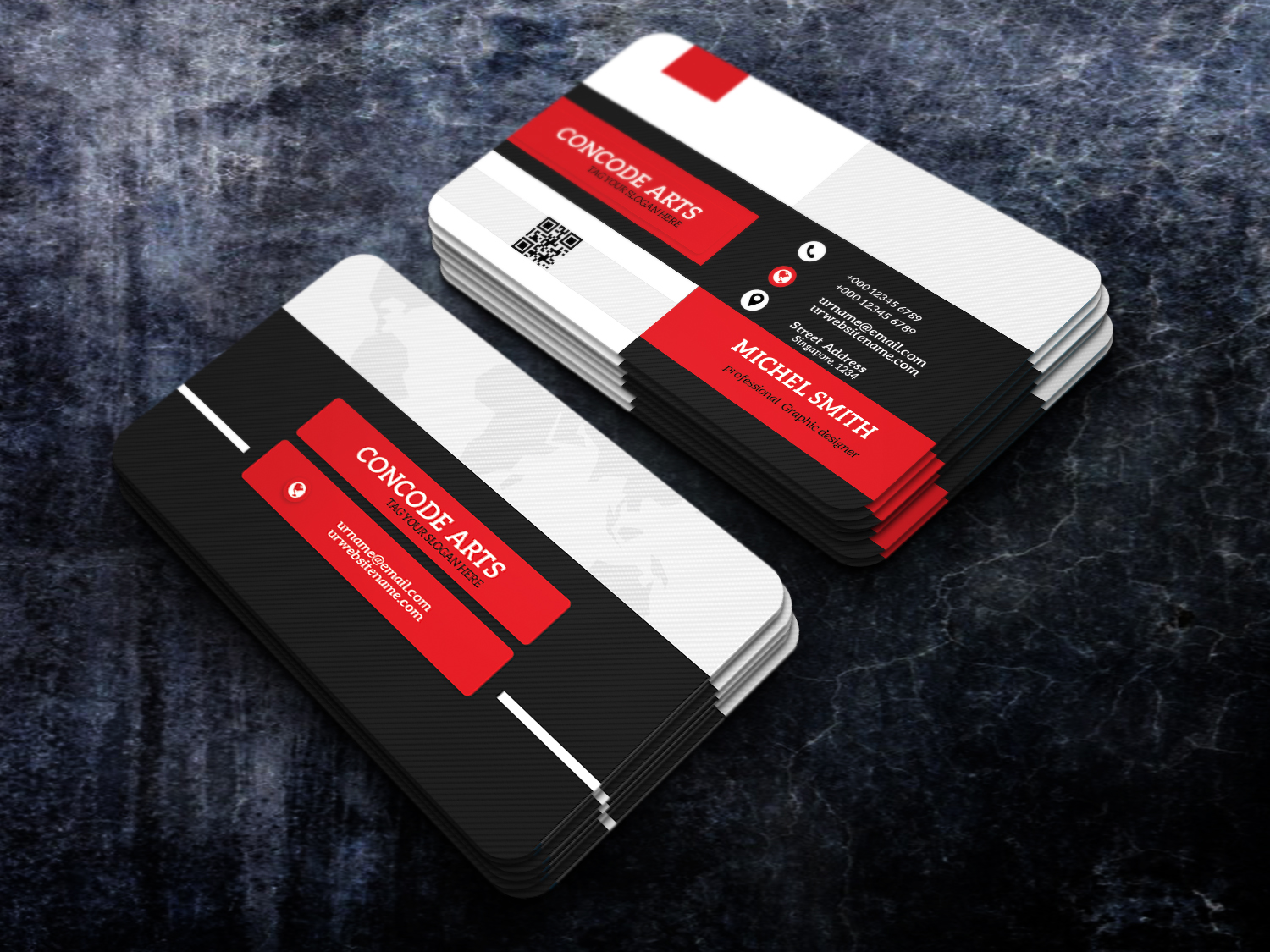 Free download red colour business cards professional business card this is a business card this template download contains 300 dpi print ready cmyk layerd psd files all main elements are editable and customizable flashek Images