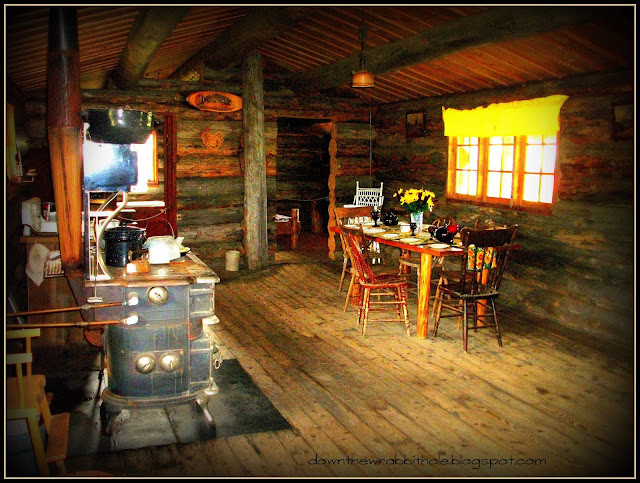 inside Old West log cabin EM-TE Town Alberta