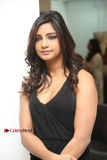 Telugu Actress Kamna Singh Stills in Black Dress at Bharat Thakur Art Exhibition Launch  0015.jpg