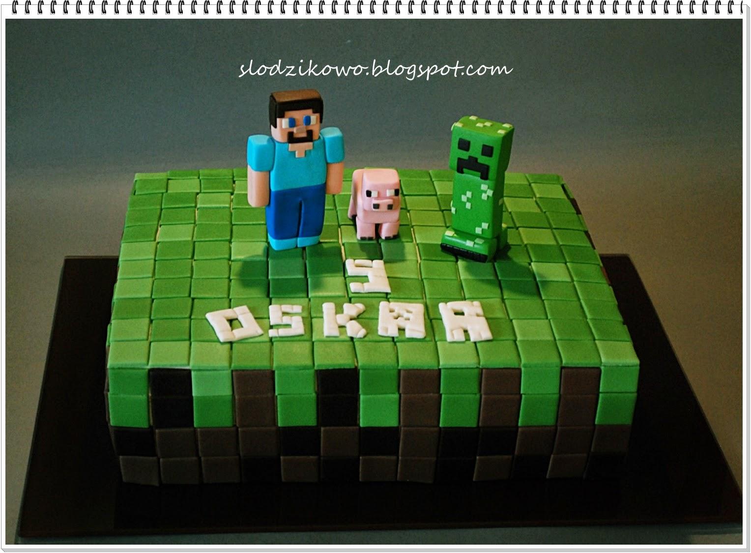 Słodzikowo Tort Minecraft
