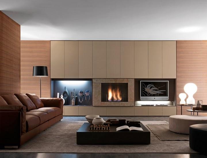Sala de estar con chimenea salas con estilo for Parete sala