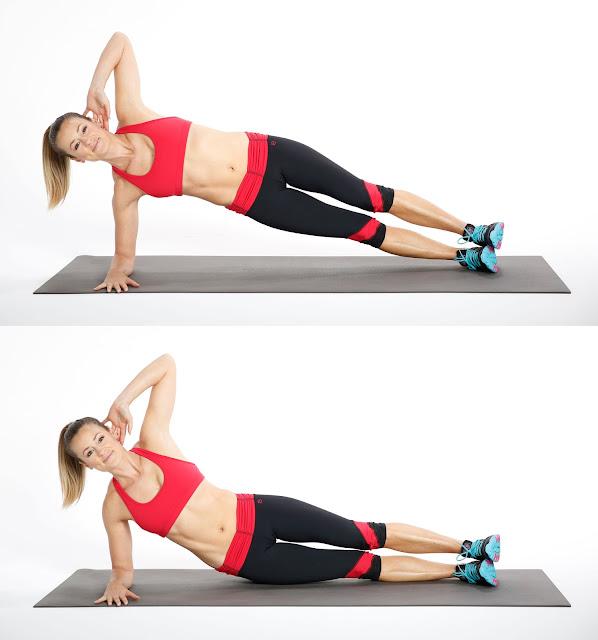 تمرين Side Plank with Hip Dip