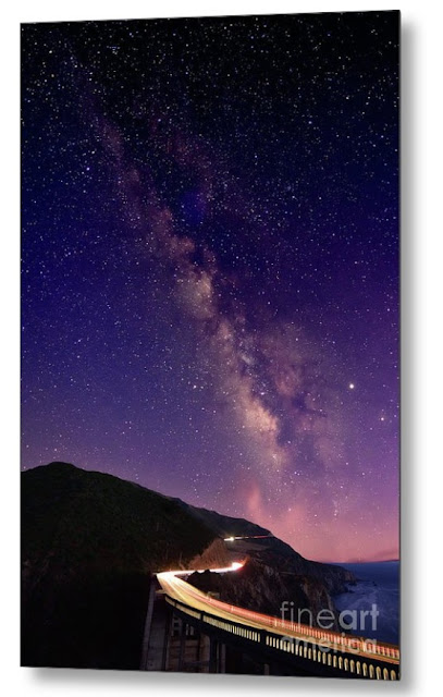 Milky Way Over Bixby Bridge, California, USA