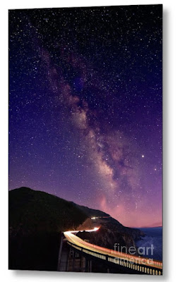 Milky Way Over Bixby Bridge, Big Sur, California