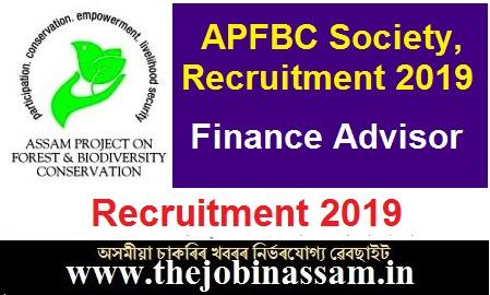 APFBC Society, Assam Recruitment 2019