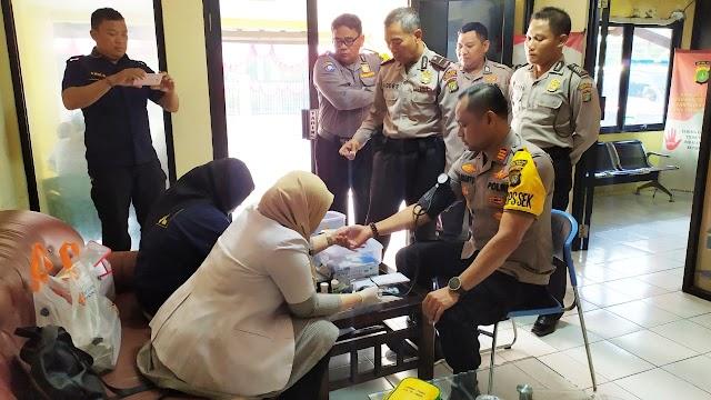 Tim Dokkes Polres Pelabuhan Tanjung Priok Periksa Kesehatan Anggotanya