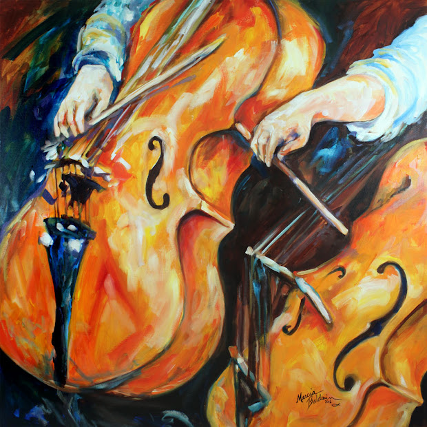 Music Abstract Art Oil Painting
