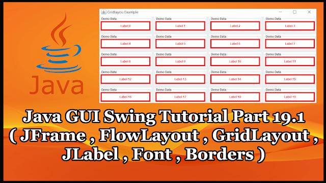 Java GUI Swing Tutorial Part 19.1 | JFrame and JLabel