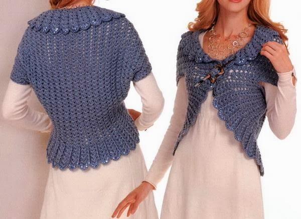 Free Easy Crochet Shrug Vest Pattern