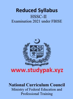 HSSC 2, 2nd year class 12 smart syllabus 2020 pdf