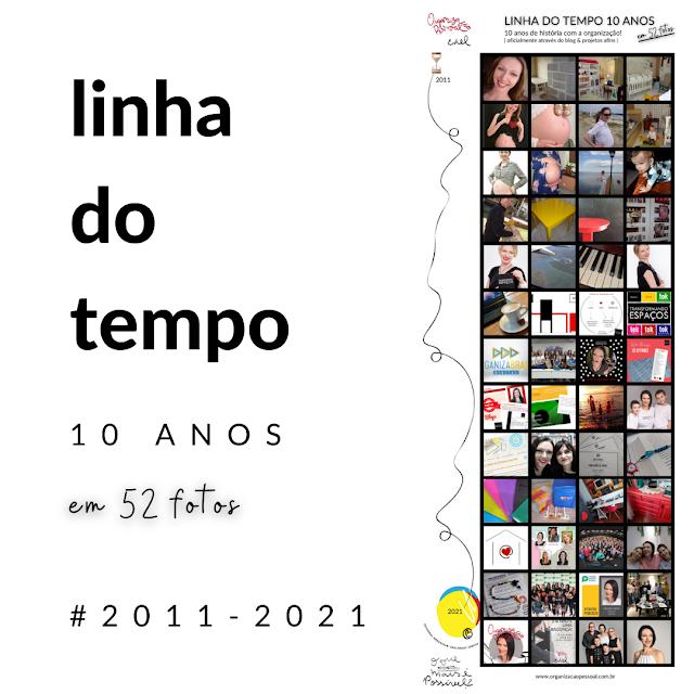 Infografico 52 fotos - 10 anos Organização Pessoal