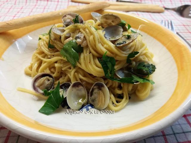 Spaghetti Alle Vongole - Espagueti Con Almejas De Gennaro Contaldo