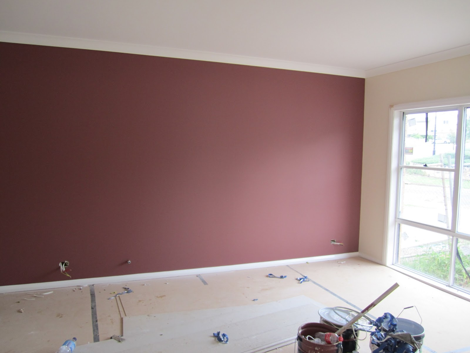 Mick and ash 39 s build painting update - Feature wall living room ...