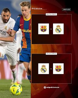 موعد كلاسيكو الأرض بين برشلونة وريال مدريد فى موسم 2022 من الدوري الاسباني