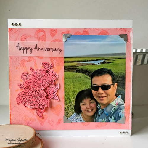 Journey Media to Make Happy Anniversary Scrapbook Page by Margie Higuchi