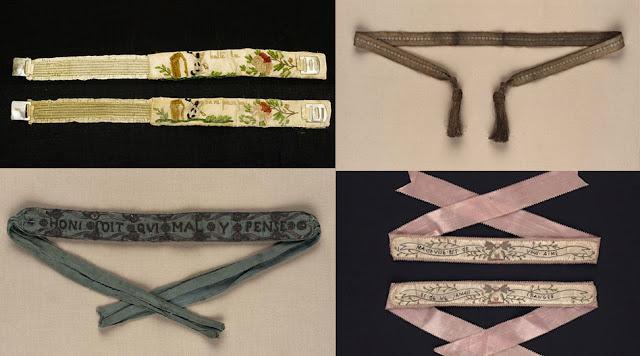 jarreteiras do século 18