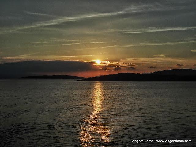 Pôr do sol a caminho de Bodrum