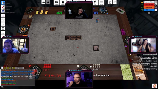 Beginning a game of Betrayal at House on the Hill