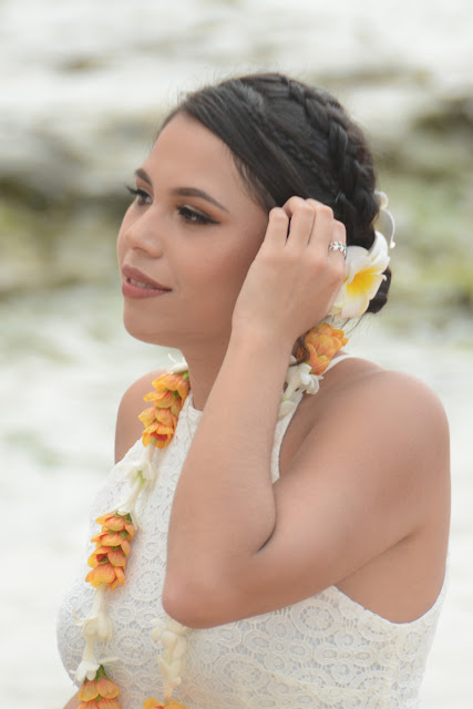 White Orange Lei