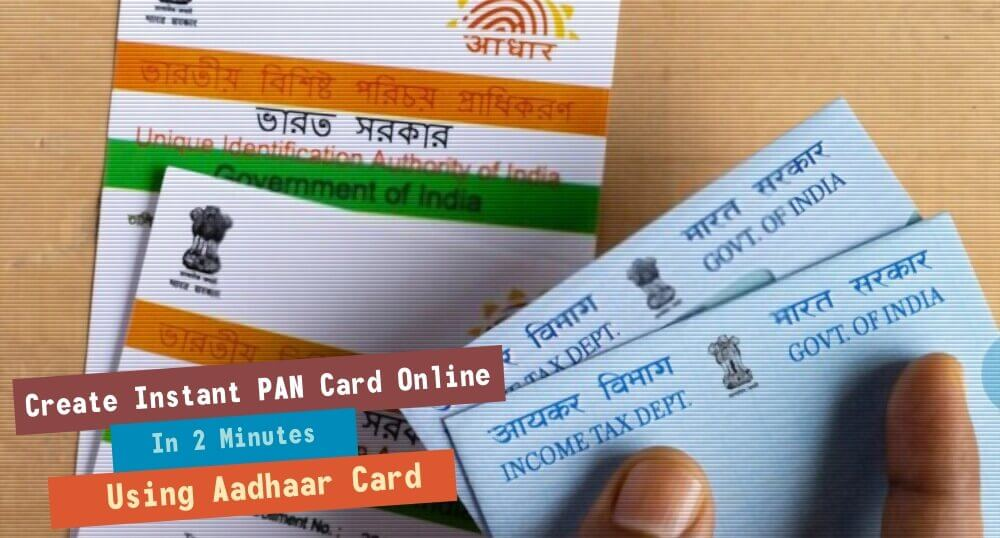 Make new E-Pan card Online