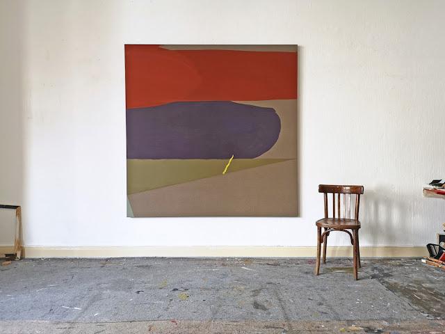 """Michel Carmantrand ACHAB, 170x170x4cm (67x67x1.6""""), acrylic paint and oil on canvas."""