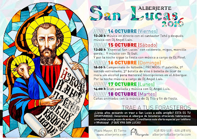 Programa de San Lucas 2016 en Alberjerte. El Torno (Valle del Jerte)
