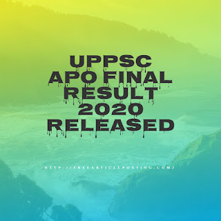 UPPSC APO Final Result 2020 released