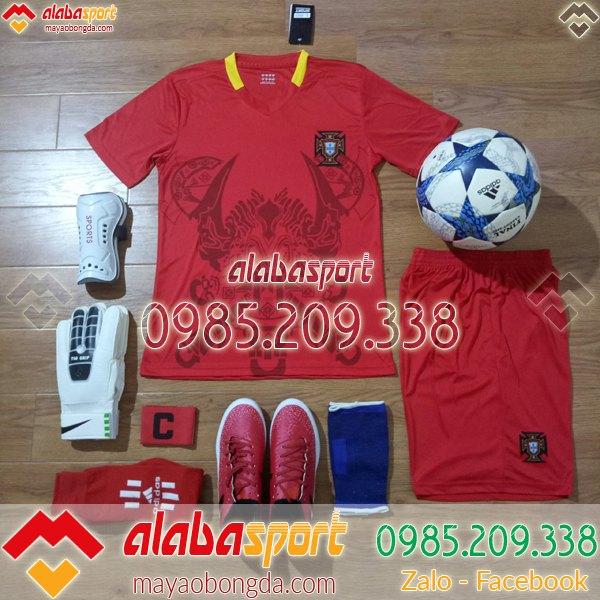 áo bóng đá bồ đào nha màu đỏ training 2019