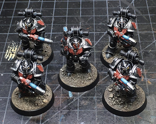 Horus Heresy Dark Angels Interemptors WIP