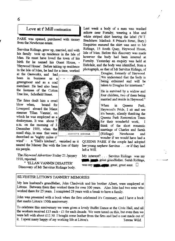 Story of Charles Martin Newhouse, Heywood, Lancashire