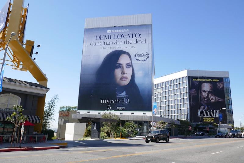 Demi Lovato Dancing with the Devil billboard