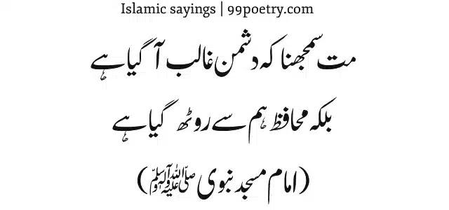 Mat Samajhna Ke Dushman Ghalib Gaya hai-Ramda-sayings