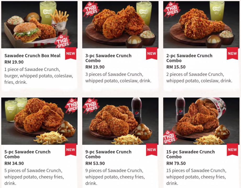 KFC Sawadee Crunch 2019 : Harga dan Review
