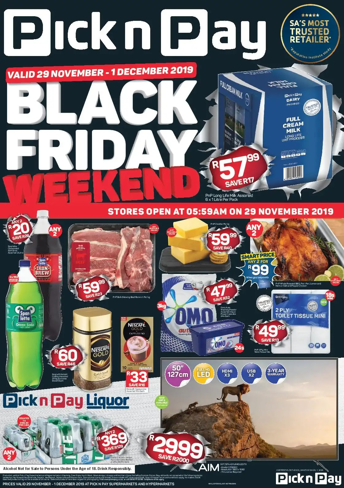 Pick n Pay Black Friday Deals- INLAND