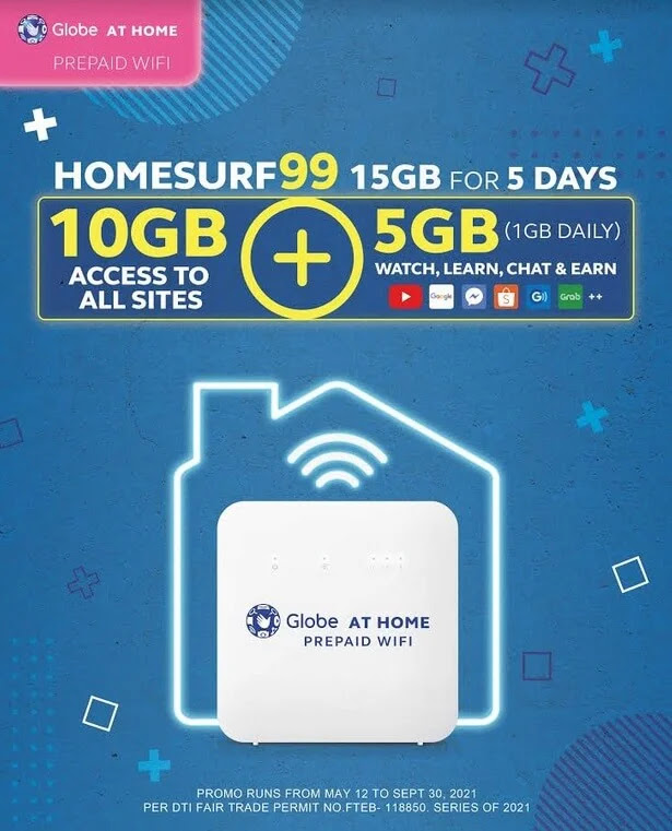 Globe HomeSURF99 Now with 15GB Data; Still For Only 99 Pesos