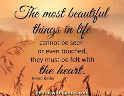 the most beautiful things in life