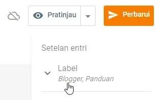pos editor label blogger