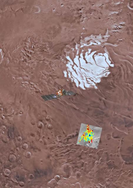 lago de água líquida encontrado em Marte