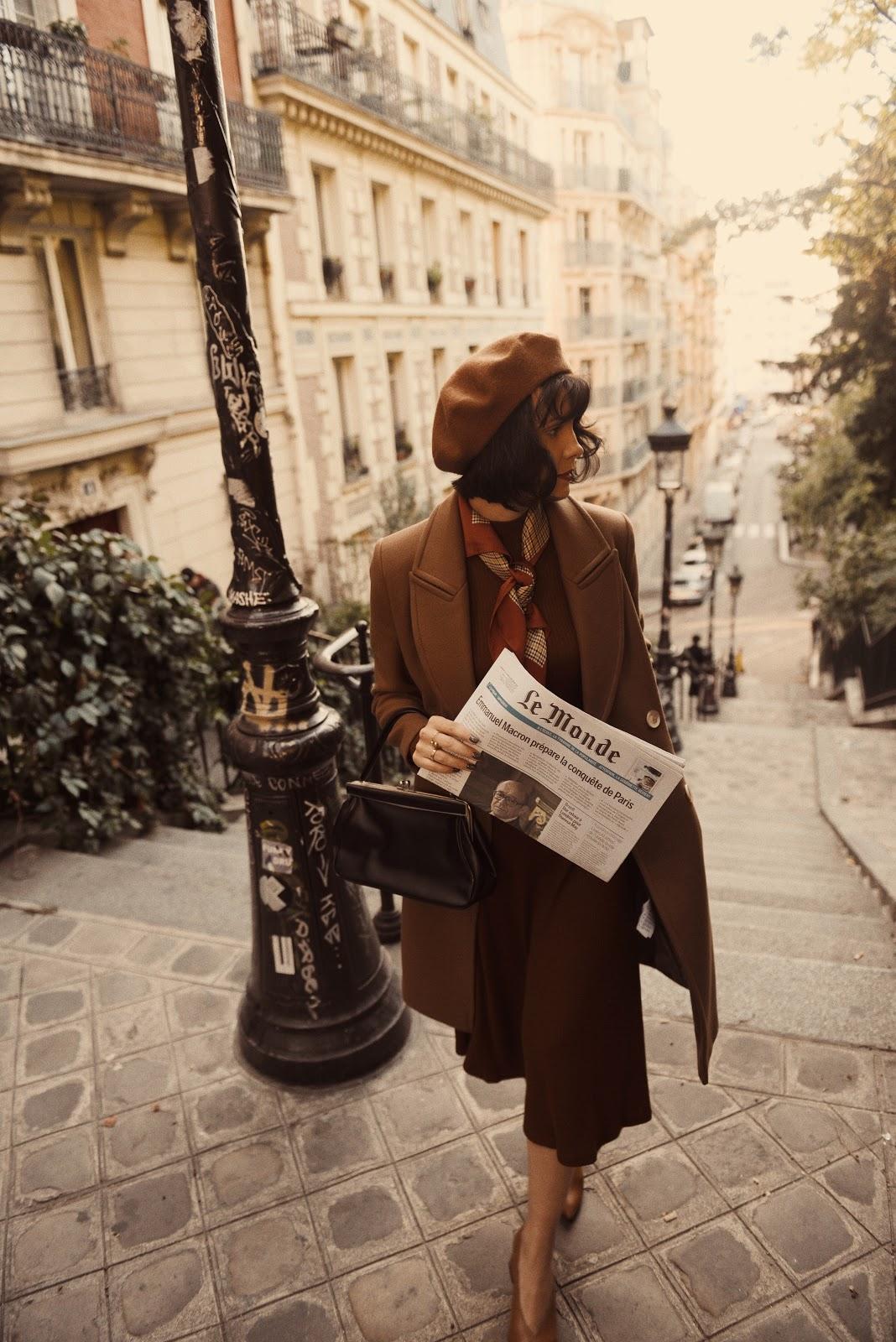 Dawka motywacji na nowy tydzień / stylizacja w retro stylu z Paryżem w tle