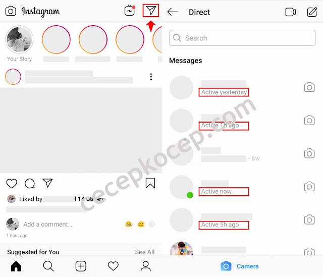 """Cara Melihat dan Menonaktifkan """"Last Seen"""" Di DM Akun Instagram"""
