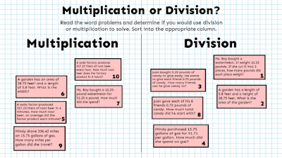 Multiply and Divide Decimals Word Problems