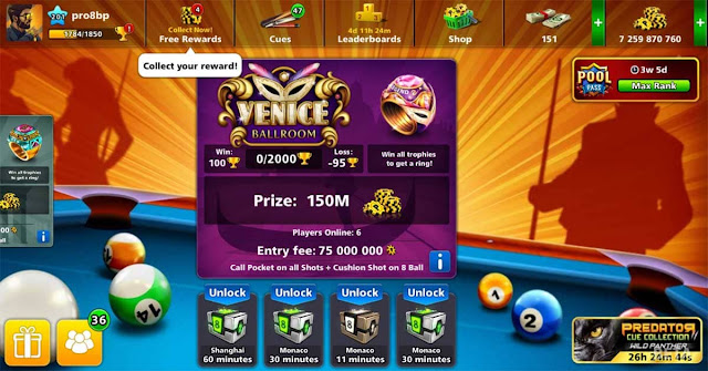 Lucky Shot Unlimited Free 8 ball pool