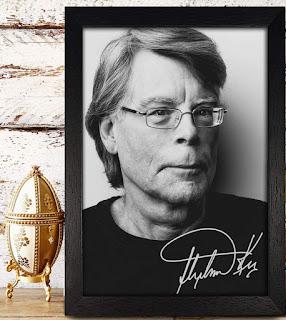 Framed Stephen King Photo Poster, Stephen King Gifts, Stephen King Merchandise, Stephen King Store