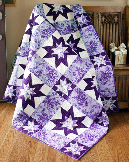 Sparkling Stars Lap Quilt - Free Pattern