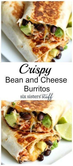 Crispy Bean And Cheese Burritos