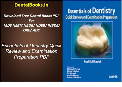 Essentials of Dentistry Quick Review and Examination Preparation PDF